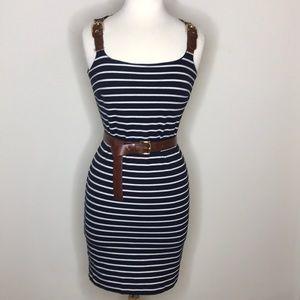 MICHAEL Michael Kors Nautical Stripe Dress w/ Belt